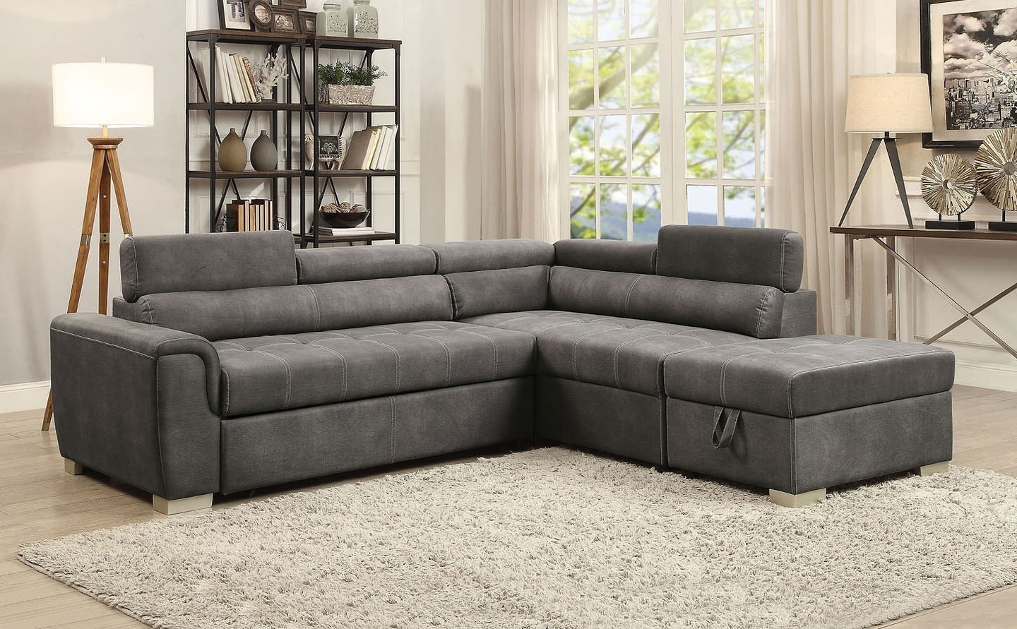 Thelma Sectional With Pull Out Bed