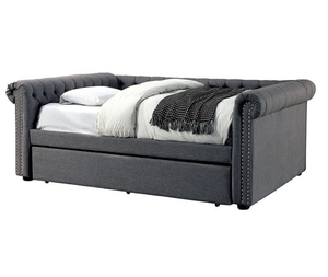 Leanna Button Tufted Rolled Arm Day Bed (3 Sizes)