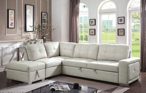 Risca Beige Sleeper Sectional