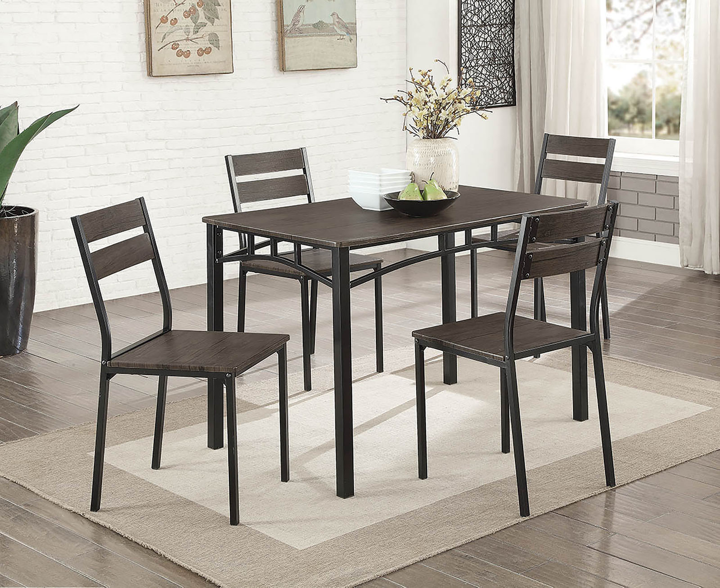 Westport Wooden 5PC Dining Set