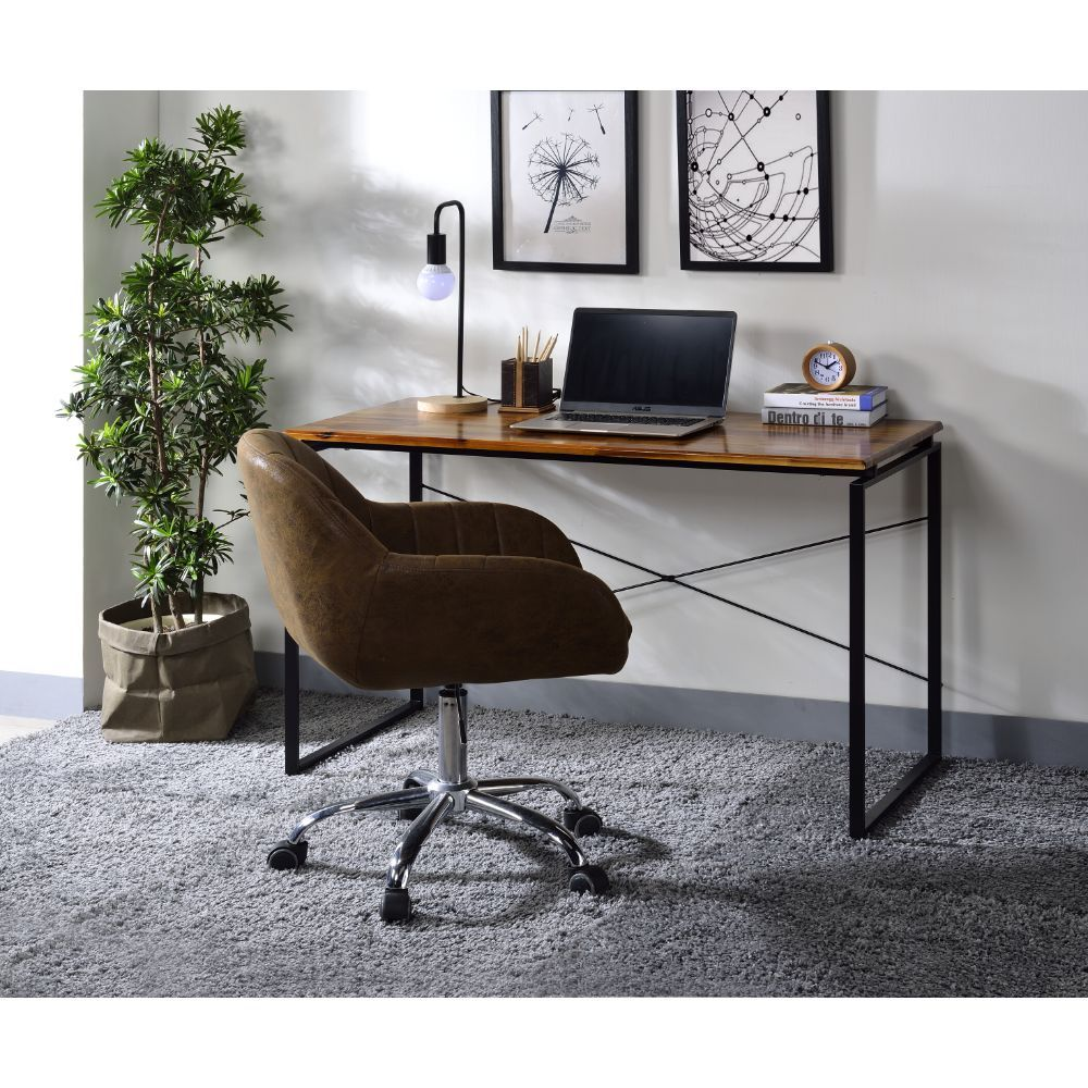 Jurgen Oak and Black Desk
