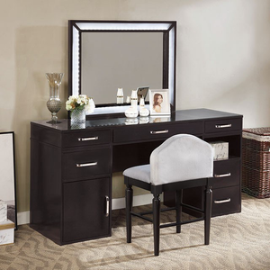 Vickie Black Vanity Set
