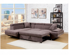 Load image into Gallery viewer, Foreman Pull Out Sleeper Sectional In Brown