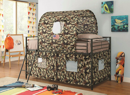 Army Camo Loft bed and Tent