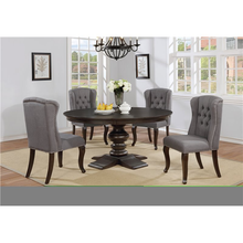 Load image into Gallery viewer, Round Grey 5pc Dining Set