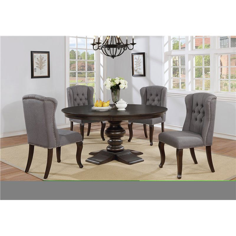 Round Grey 5pc Dining Set
