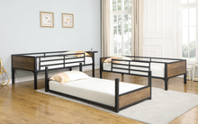 Load image into Gallery viewer, Nickerson Twin Triple Bunk Bed Matte Black