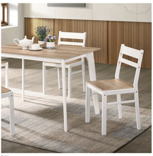 Load image into Gallery viewer, Debbie 5 Piece Dining Set In Light Wood