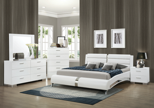 Jeremaine  Upholstered Bed White