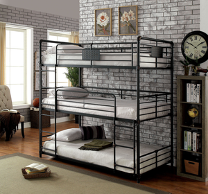 Olga I Triple Decker Twin Bunk Bed