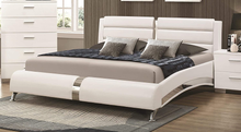 Load image into Gallery viewer, Jeremaine  Upholstered Bed White