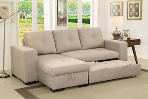 Denton Sleeper Sectional In Ivory