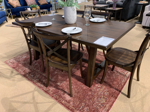 Saige 7pc Brushed Oak Dining Set