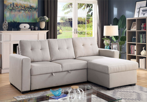Jacob Sleeper Sectional In Light Grey