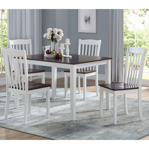 Leigh Walnut 5pc Dining Set