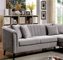 Load image into Gallery viewer, Goodwick Mid Century Sectional in Light Grey