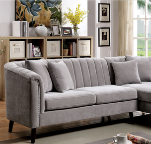 Goodwick Mid Century Sectional in Light Grey