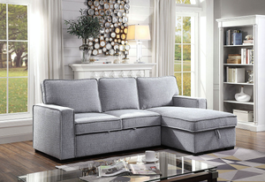 Ines Sleeper Sectional in Grey