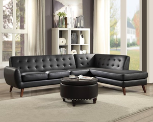 Essick II Black PU Sectional
