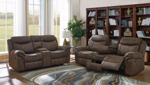 Sawyer Living Room Collection (Microfiber, Brown)