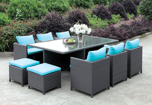 Ashanti 11 Pc Patio Dining Set