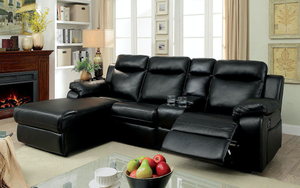 Hardy Sectional With Storage (Black)