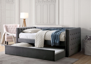 Grey Susanna Day Bed with Trundle