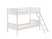 Load image into Gallery viewer, Littleton Contemporary Twin over Twin Bunk Bed (White)