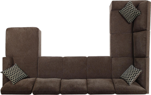 Provence Storage Sectional In Brown