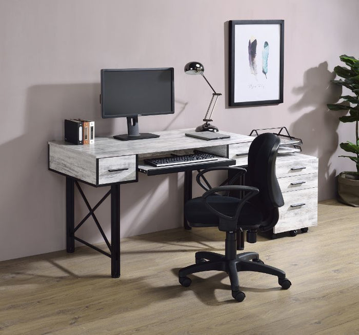 Jane white and Black Desk