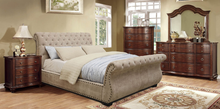 Load image into Gallery viewer, Noemi Button Tufted Bed In Mocha