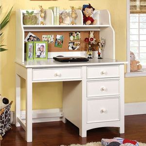 Omnus Youth Desk With Hutch in White