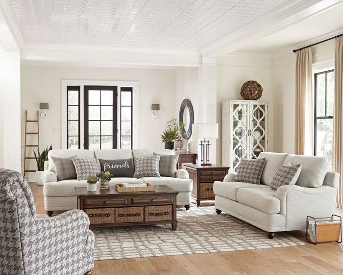 Glenn Living Room Collection (Cream)