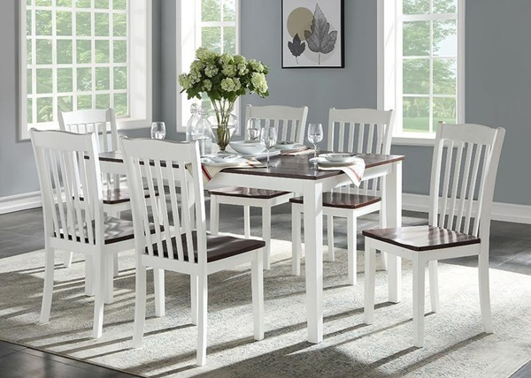 Leigh Walnut 7 pc Dining Set