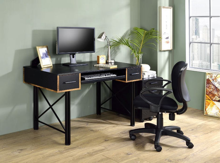 Jane Black and Gold Desk