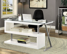 Load image into Gallery viewer, Bronwen White Glass Desk