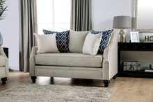 Load image into Gallery viewer, Nefyn Ivory Burlap Weave Sofa & Loveseat