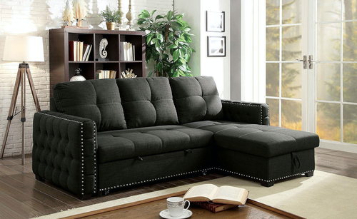 Demi Dark Grey Sleeper Sectional