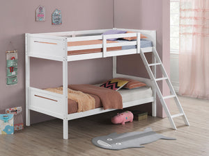 Littleton Contemporary Twin over Twin Bunk Bed (White)