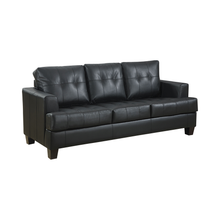 Load image into Gallery viewer, Samuel Upholstered Sleeper Sofa in Black