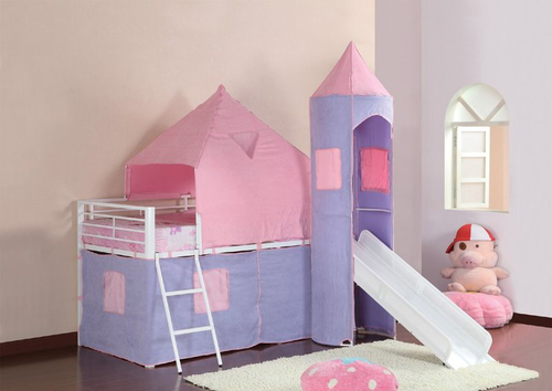 Princess Loft Bed With Slide