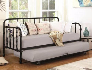 Black Metal daybed with trundle