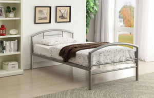 Silver Iron twin bed