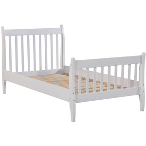 Modern Twin Bed in (White)
