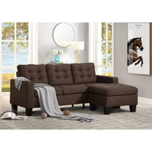 Load image into Gallery viewer, Earsom Sectional Sofa In Brown Linen