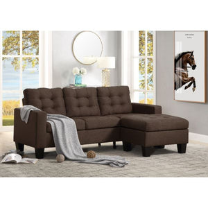 Earsom Sectional Sofa In Brown Linen