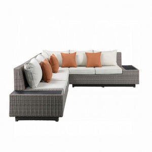 Salena Patio Sectional & Cocktail Table