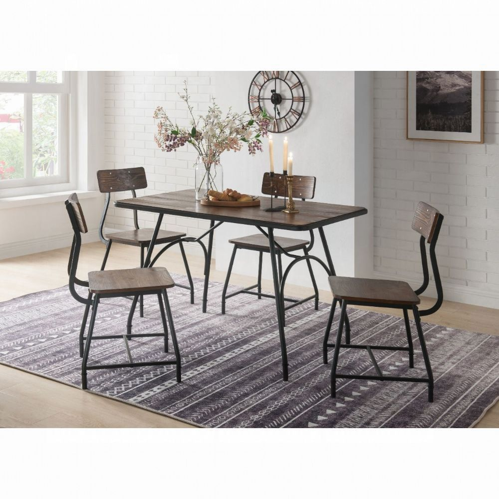 Paras 5 Pc Dining Set in Walnut