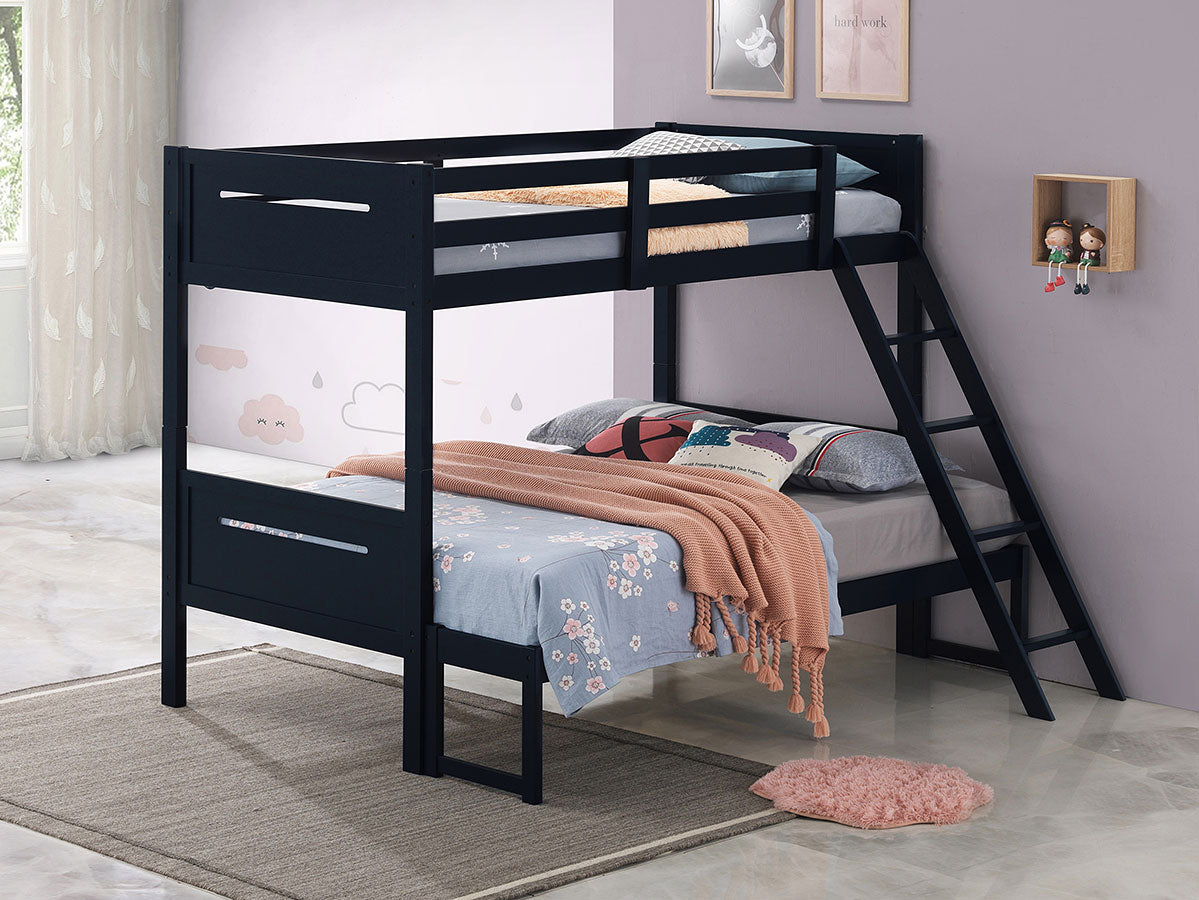 Littleton Contemporary Twin over Full Bunk Bed (Blue)