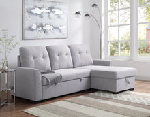 Load image into Gallery viewer, Heidi Reversible Storage Sleeper Sectional Sofa In Gray